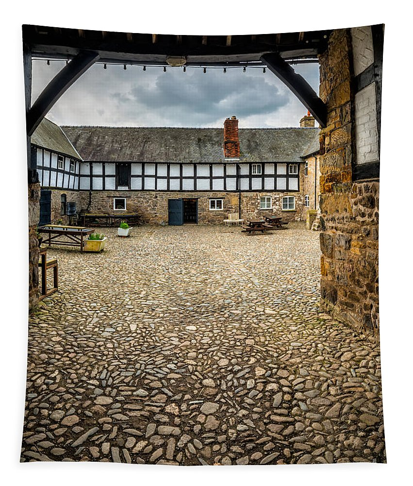 British Tapestry featuring the photograph Old Farm by Adrian Evans