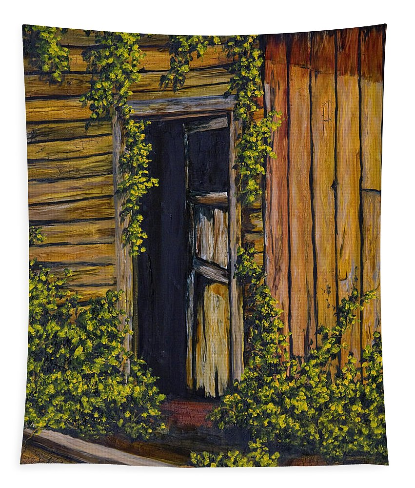 Door Tapestry featuring the painting Old General Store by Darice Machel McGuire