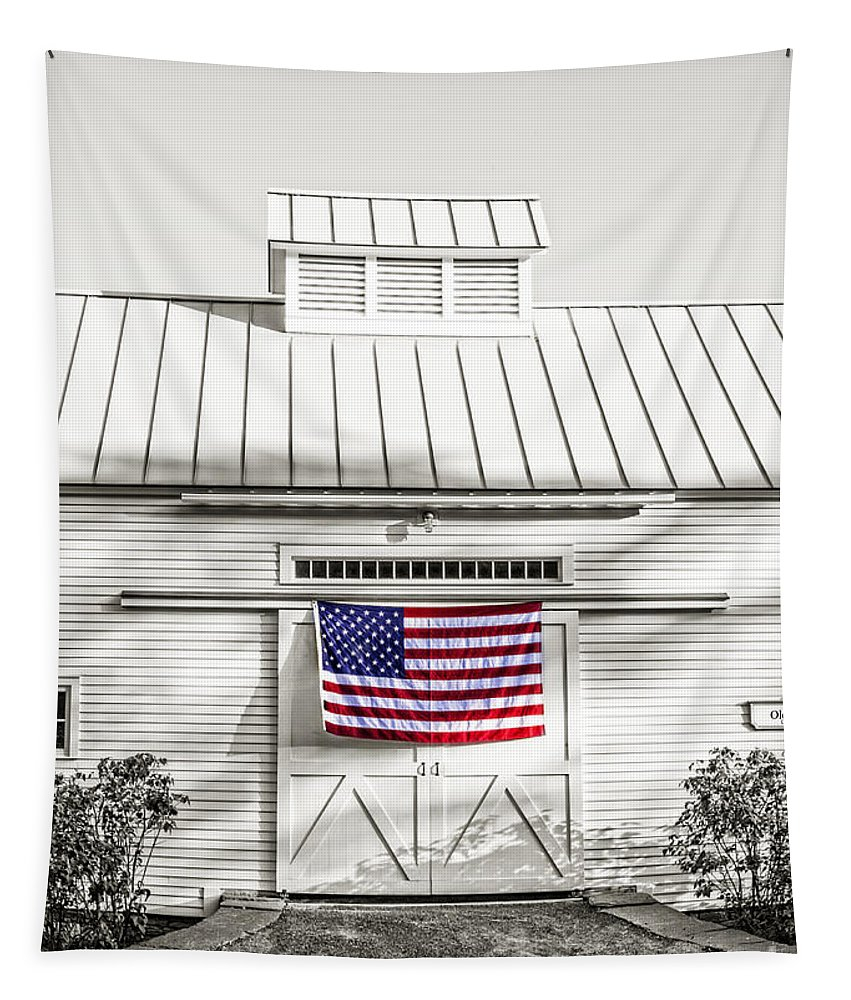 Vermont Tapestry featuring the photograph Old Glory Circa 1776 by Edward Fielding