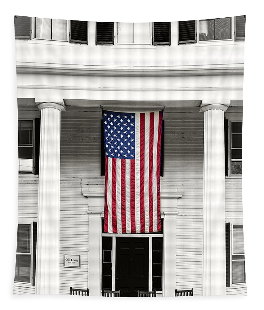 Old Tapestry featuring the photograph Old Glory Est. 1776 by Edward Fielding