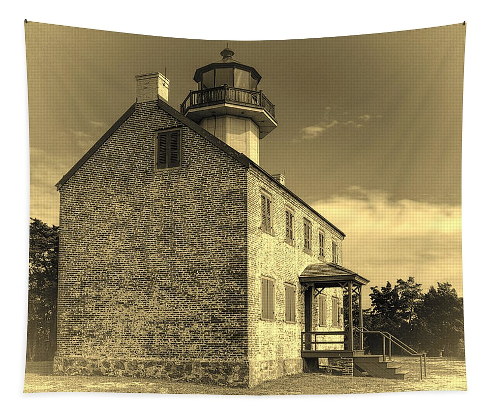 Joan Carroll Tapestry featuring the photograph Old Time East Point Light by Joan Carroll