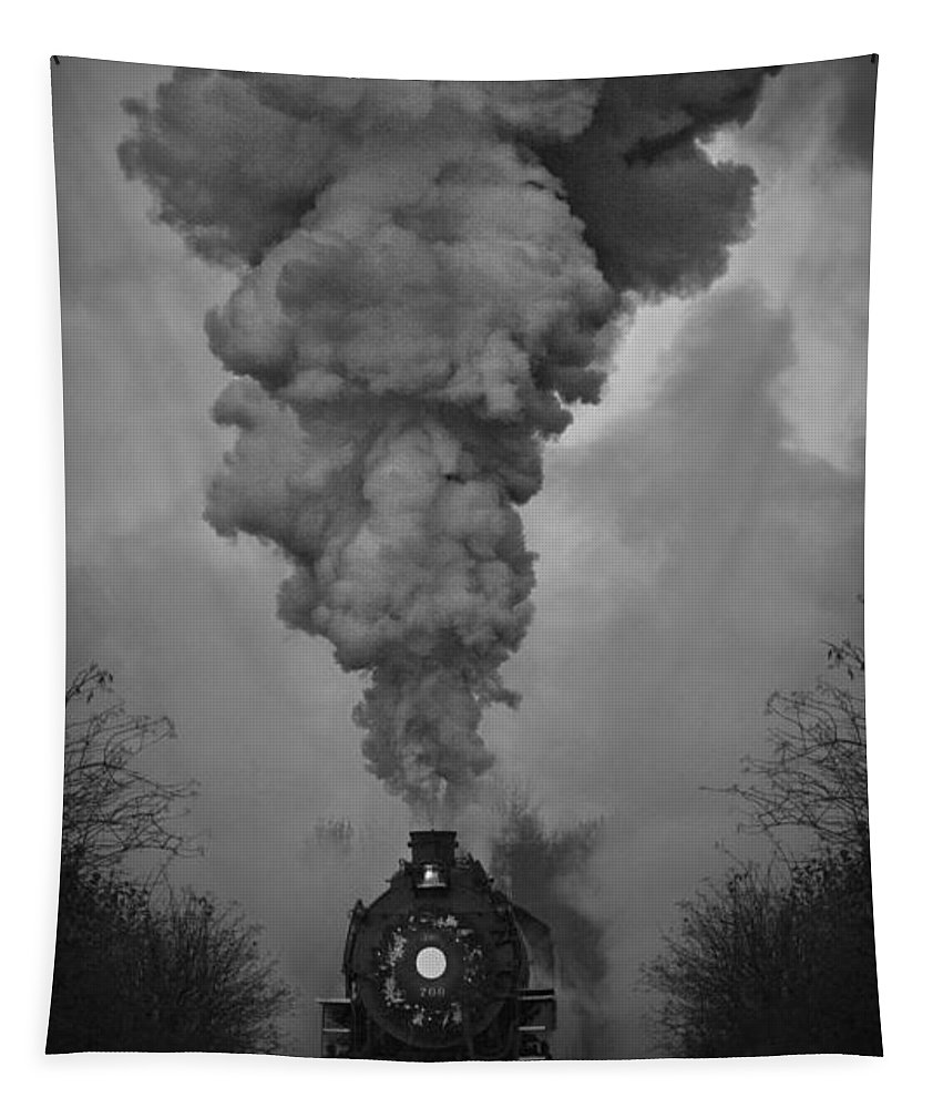 Old Time Steam Locomotive Tapestry featuring the photograph Old Time Steam Locomotive by Wes and Dotty Weber
