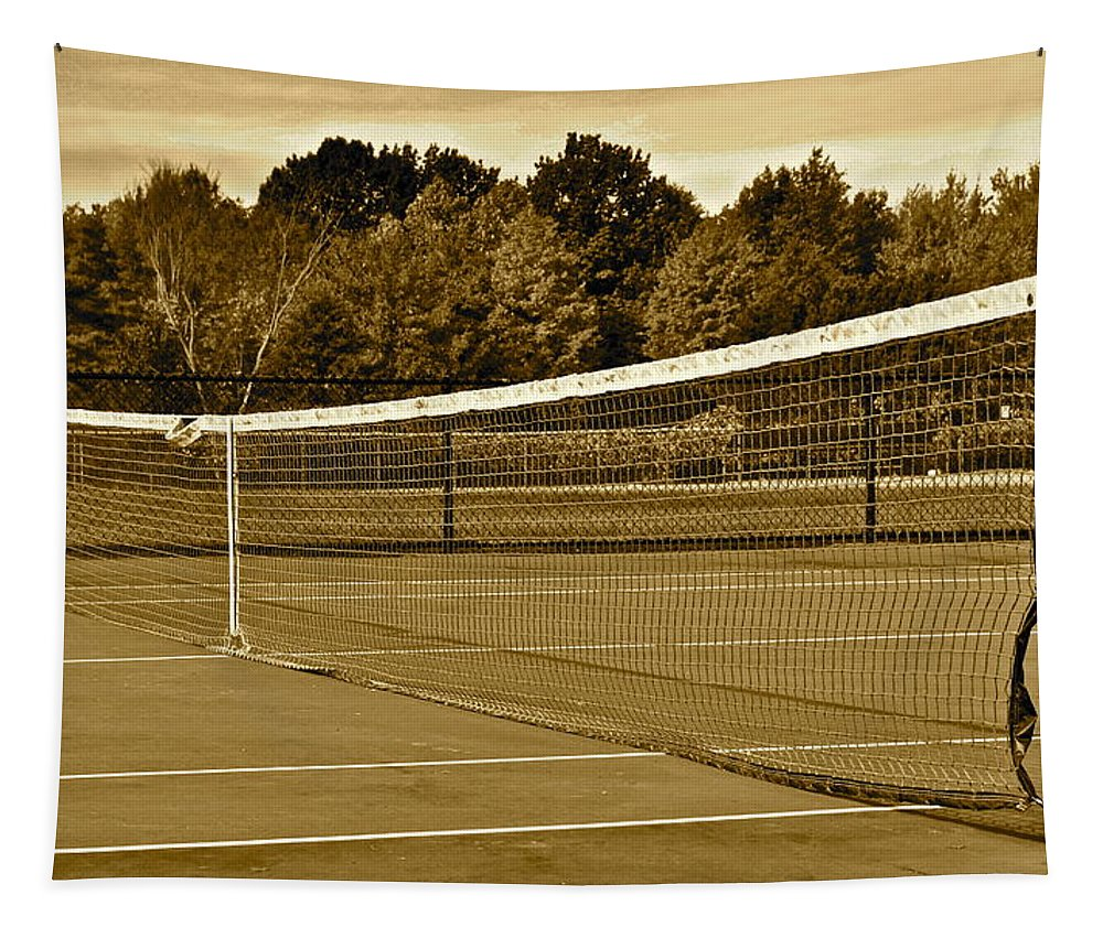 Tennis Tapestry featuring the photograph Old Time Tennis by Frozen in Time Fine Art Photography