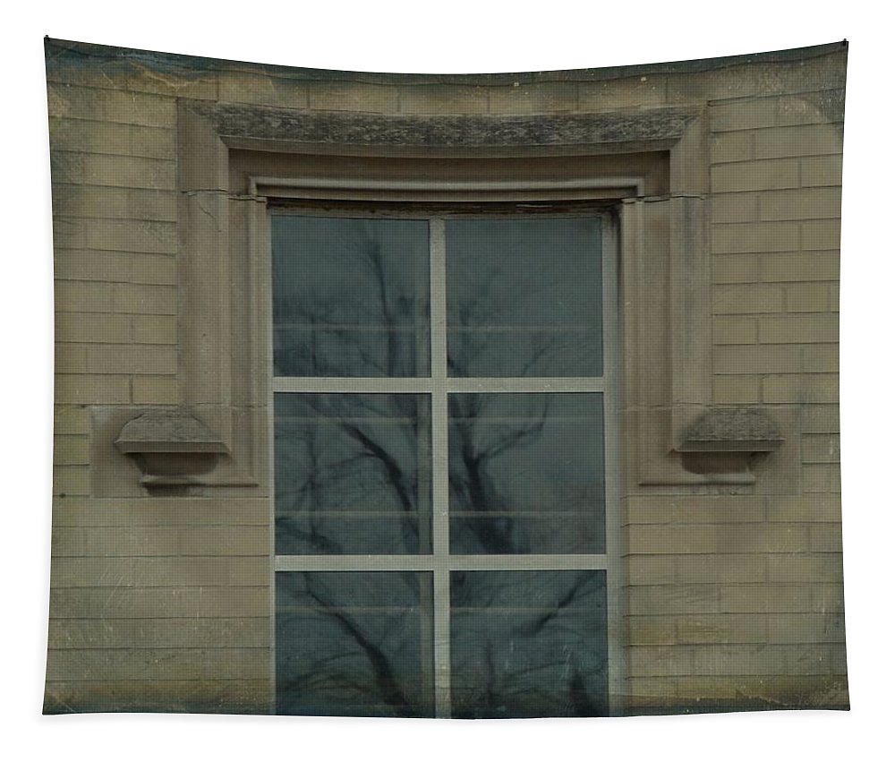 Old Window Tapestry featuring the photograph Old Window by Gothicrow Images