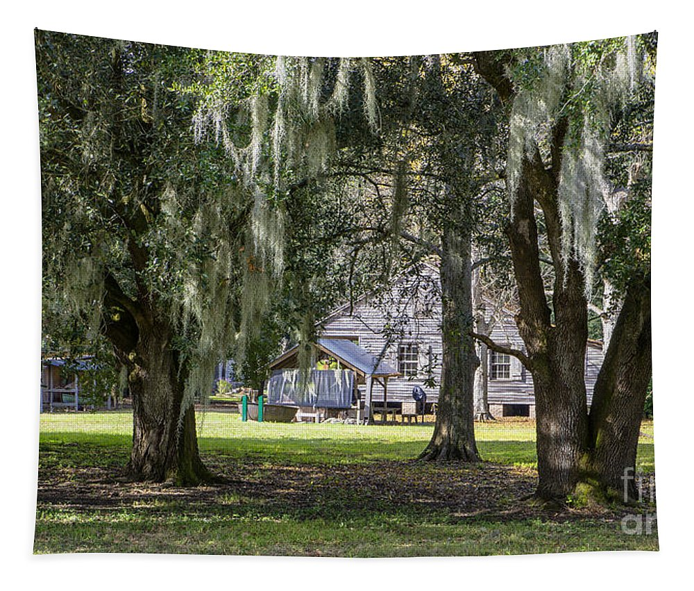 Kathleen K Parker Tapestry featuring the photograph On Destrehan Plantation by Kathleen K Parker