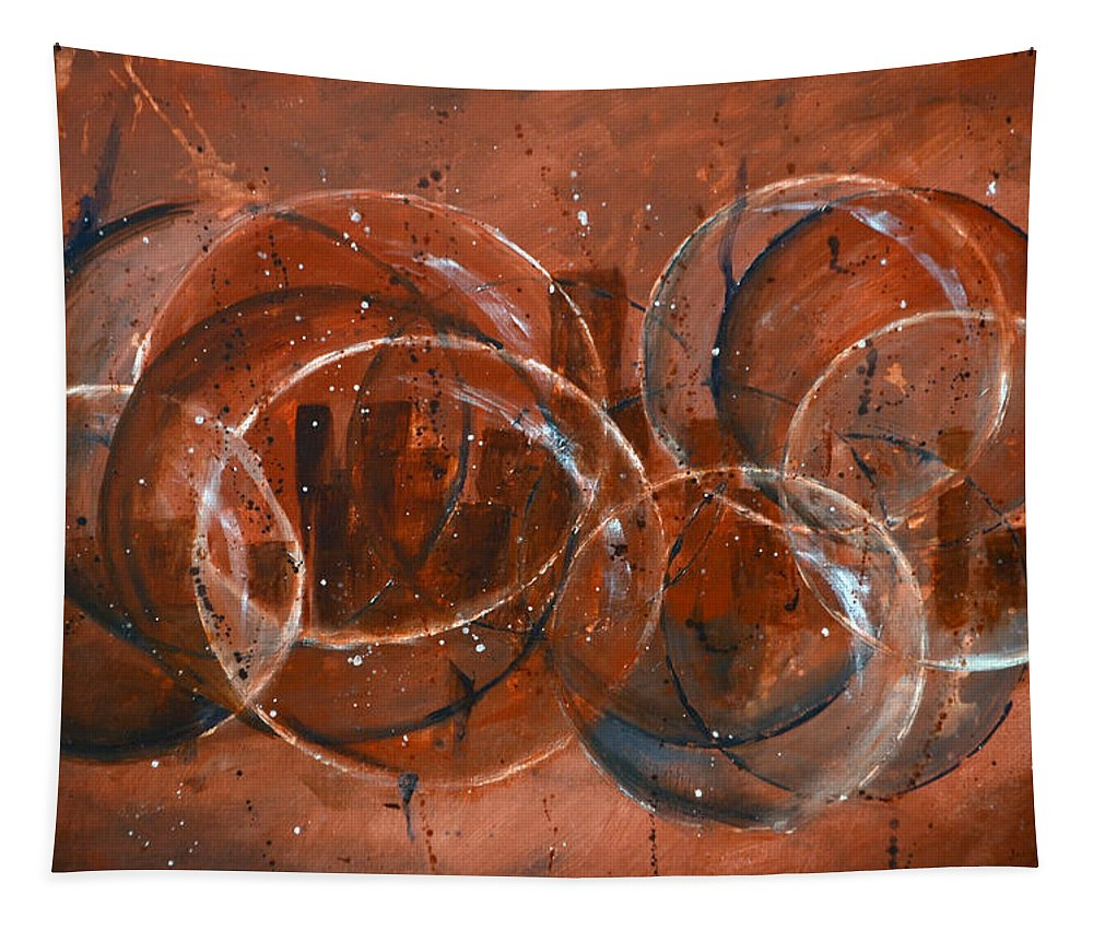 Bubble Tapestry featuring the painting On The Bubble by James Pinkerton