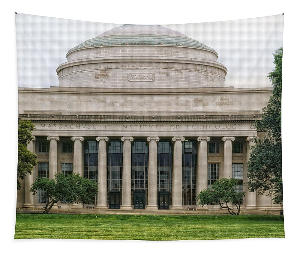 M.i.t. Tapestry featuring the photograph On The Campus Of Mit - Cambridge Massachusetts by Mountain Dreams