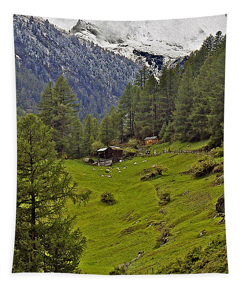 Switzerland Tapestry featuring the photograph On The Train To Zermatt by Stuart Litoff