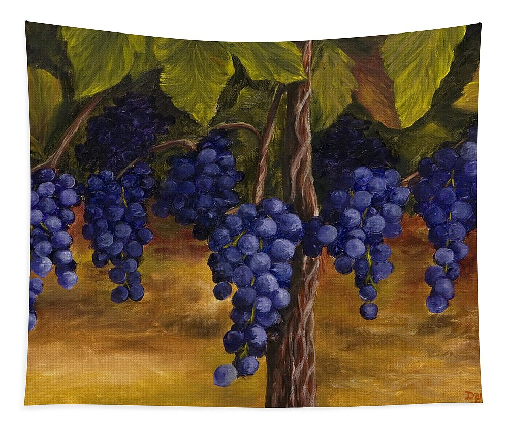 Kitchen Art Tapestry featuring the painting On The Vine by Darice Machel McGuire