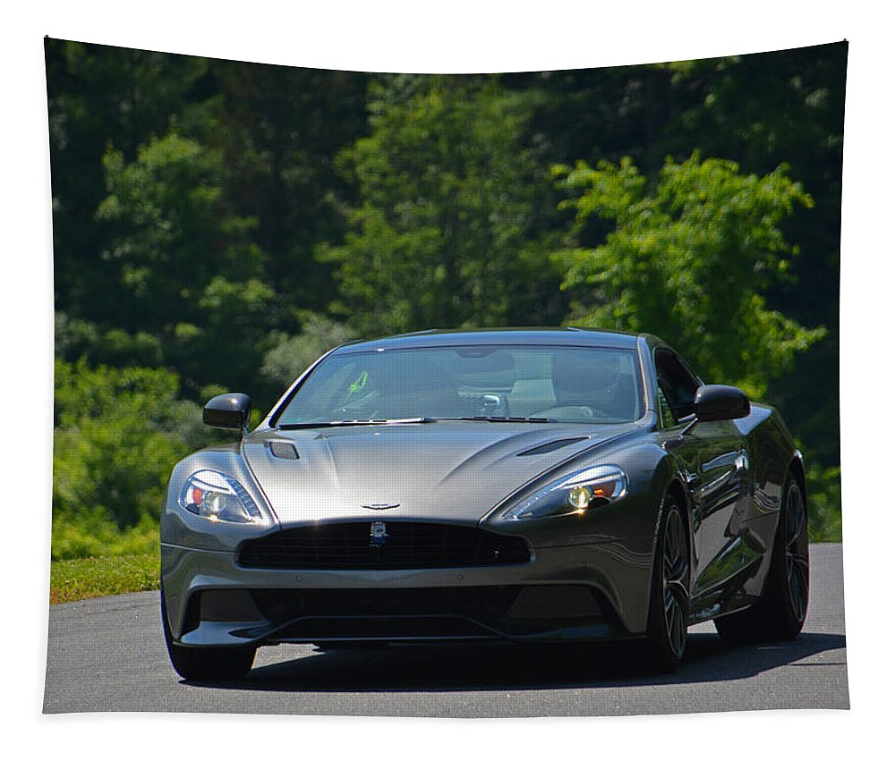 Aston Martin Tapestry featuring the photograph On Top... by Mike Martin