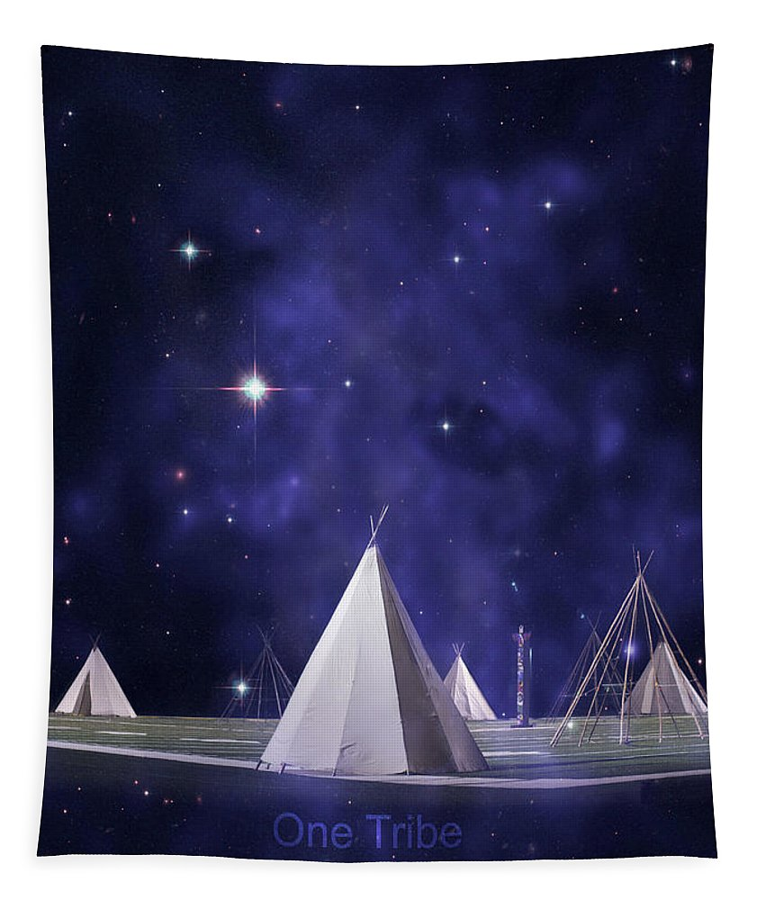 Tee Pee Tapestry featuring the photograph One Tribe by Laura Fasulo