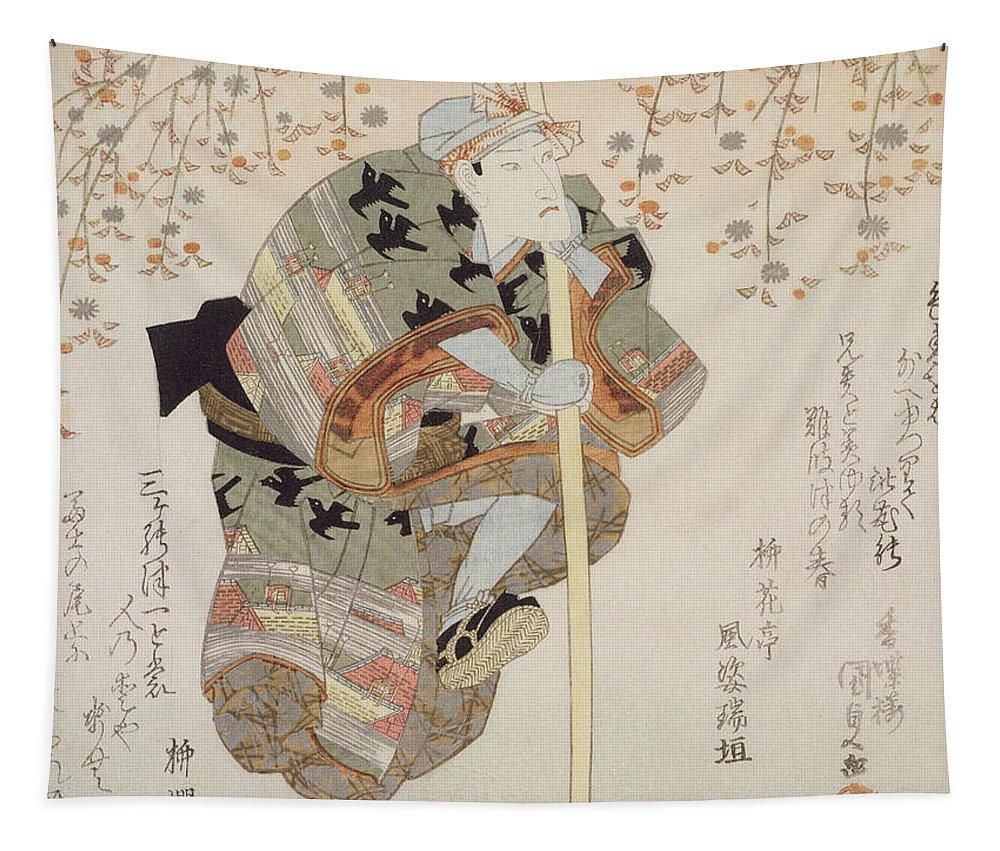 Male Tapestry featuring the painting Onoe Kikugoro IIi As Shimbei by Utagawa Kunisada
