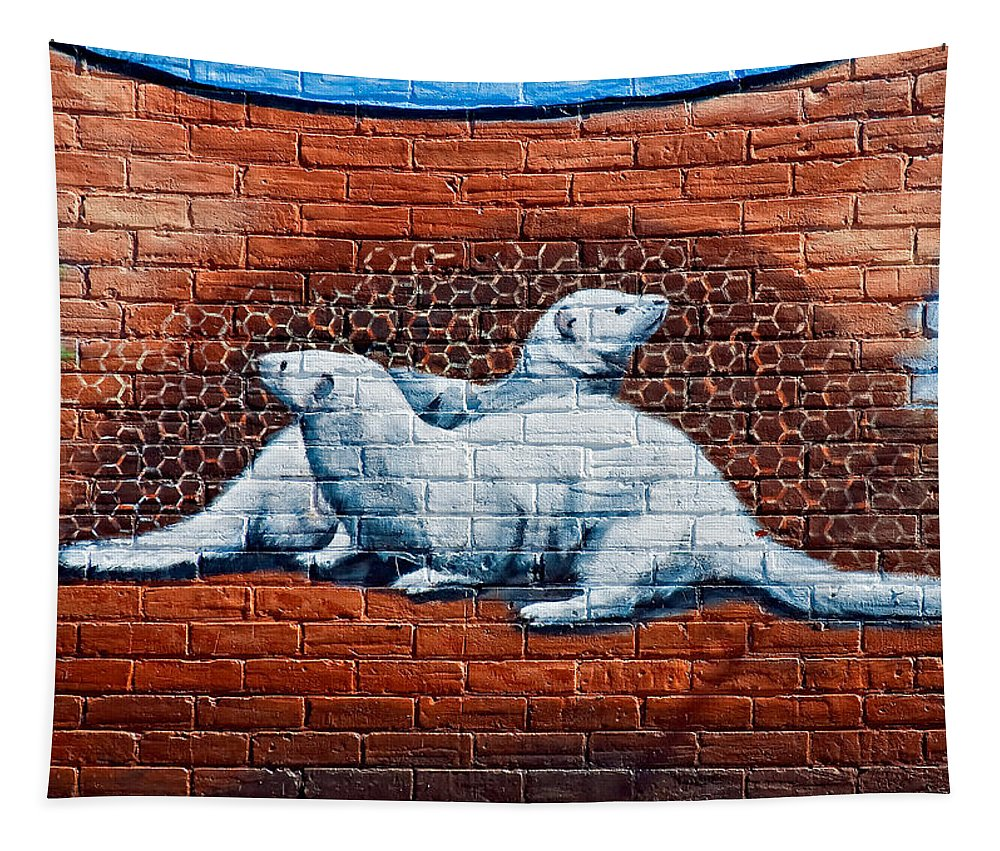 Ontario Tapestry featuring the photograph Ontario Heritage Mural 3 by Steve Harrington