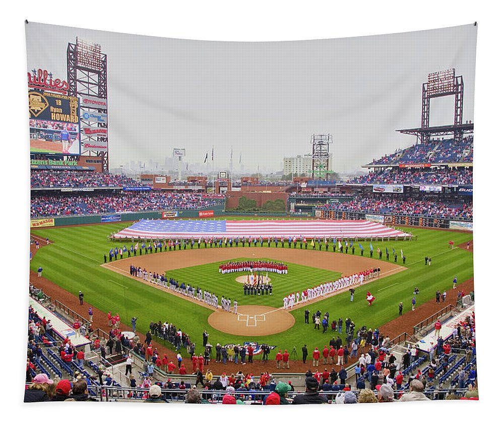 Photography Tapestry featuring the photograph Opening Day Ceremonies Featuring by Panoramic Images