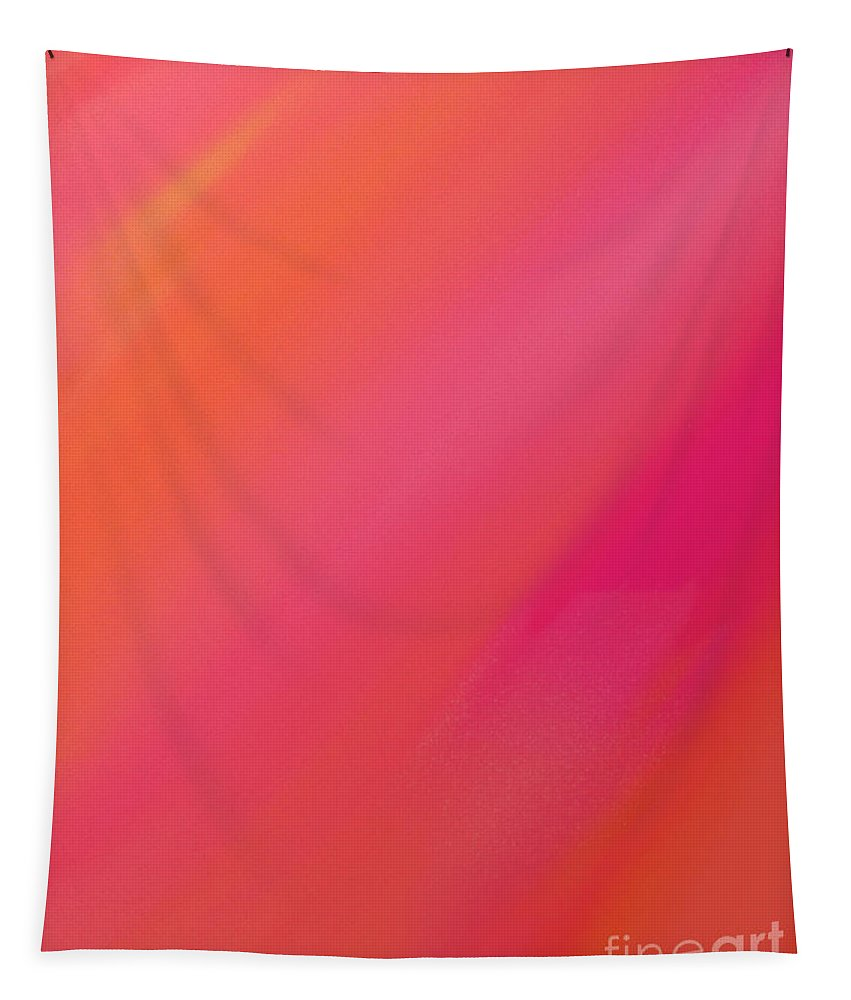Andee Design Abstract Tapestry featuring the digital art Orange And Raspberry Sorbet Abstract 1 by Andee Design
