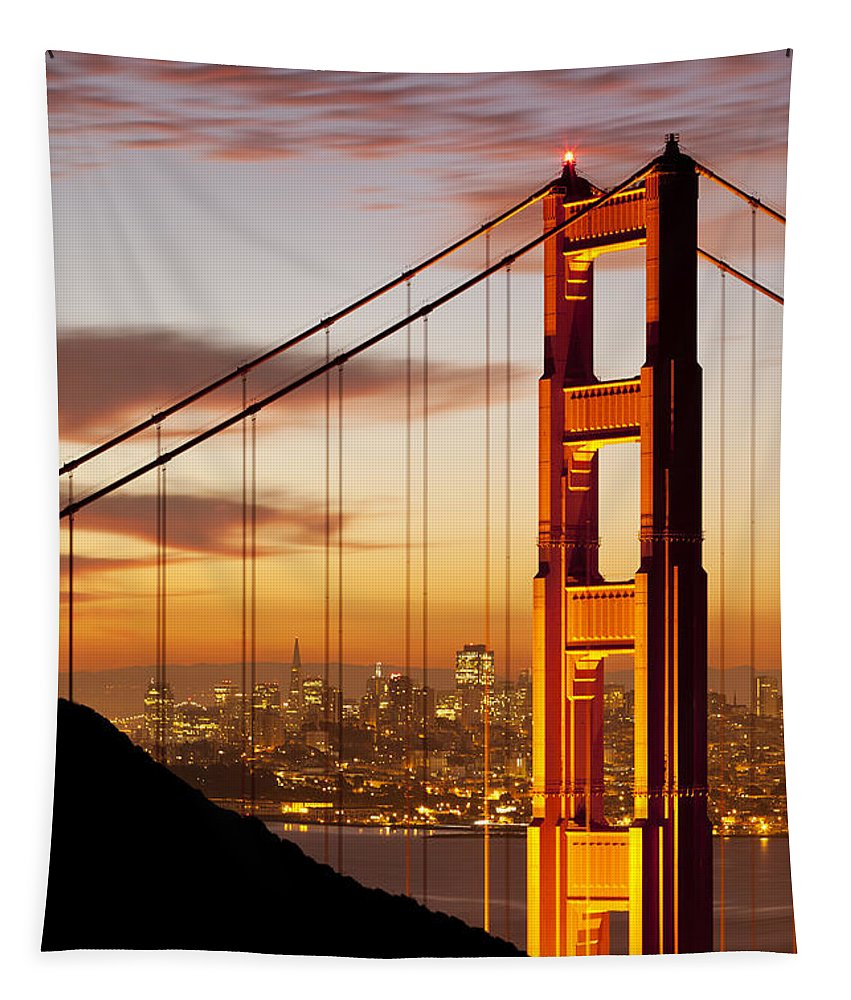 Sunrise Tapestry featuring the photograph Orange Light At Dawn by Brian Jannsen