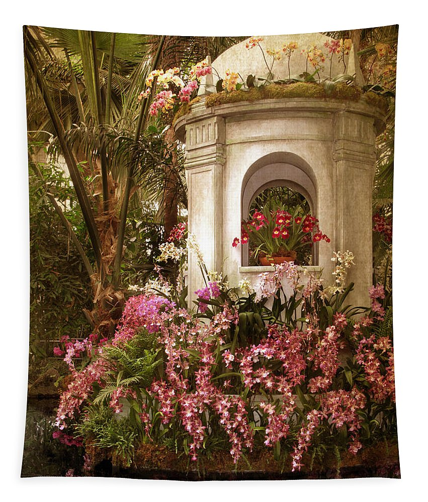 Flowers Tapestry featuring the photograph Orchid Show by Jessica Jenney