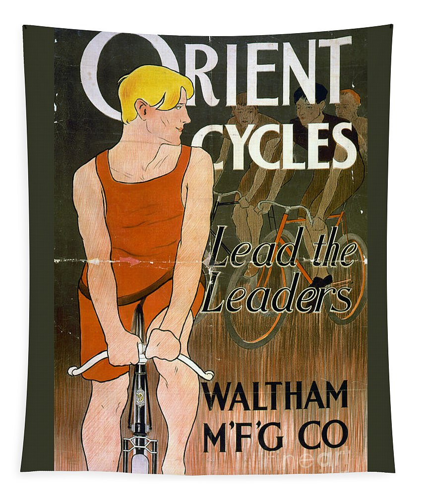 Bike Tapestry featuring the photograph Orient Cycles Vintage Bicycle Poster by Edward Fielding