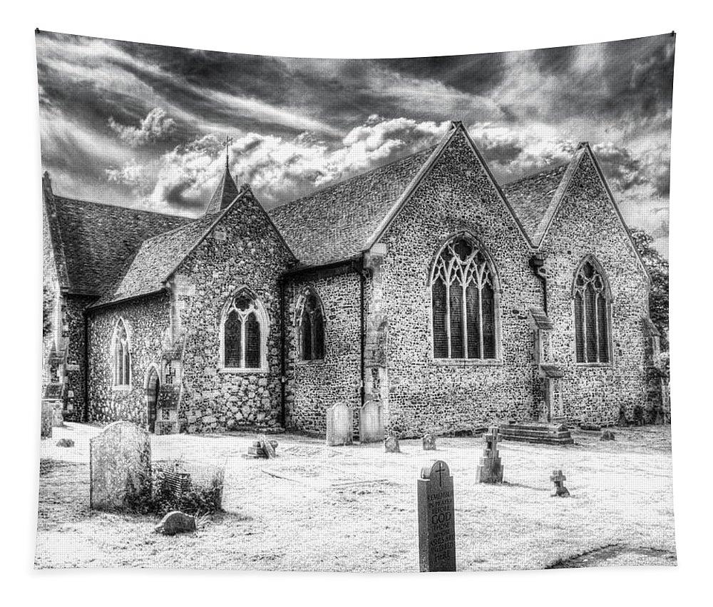 Orsett Tapestry featuring the photograph Orsett Church Essex England by David Pyatt