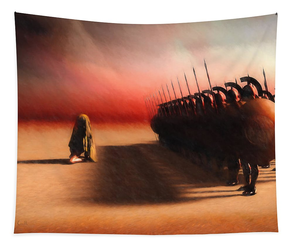 Egypt Tapestry featuring the painting Out Of Egypt by Bob Orsillo