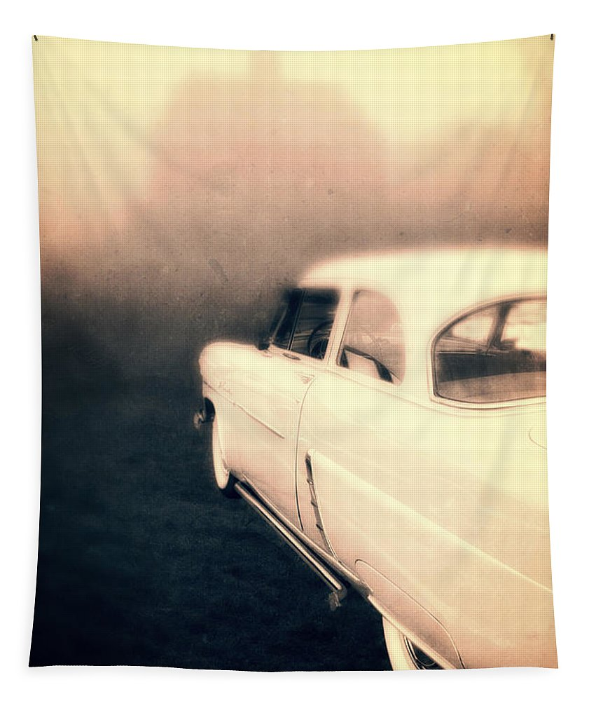 Mystery Tapestry featuring the photograph Out Of Gas by Edward Fielding