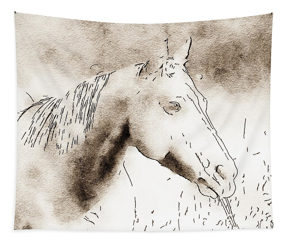 Horse Tapestry featuring the photograph Out To Lunch by Kerri Farley