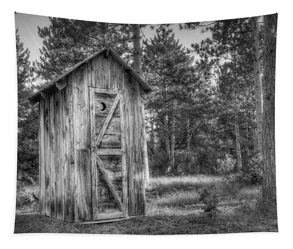 Outhouse Tapestry featuring the photograph Outdoor Plumbing by Scott Norris