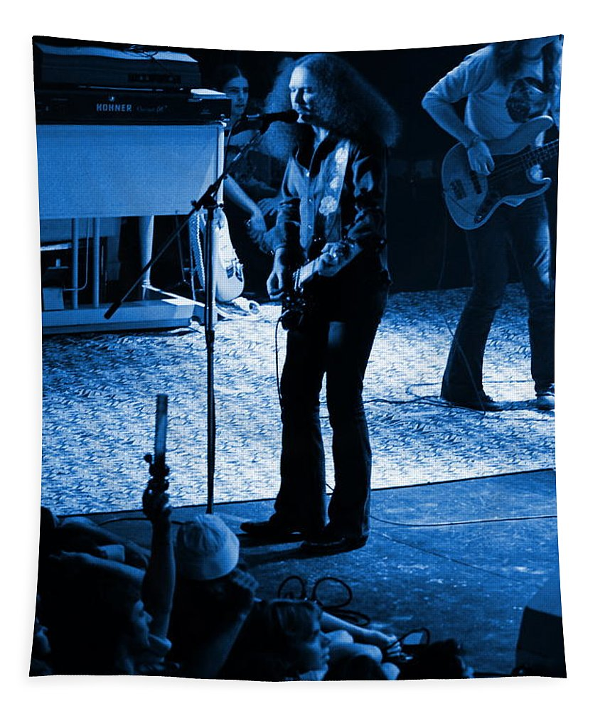Outlaws Tapestry featuring the photograph Outlaws #17 Blue by Ben Upham