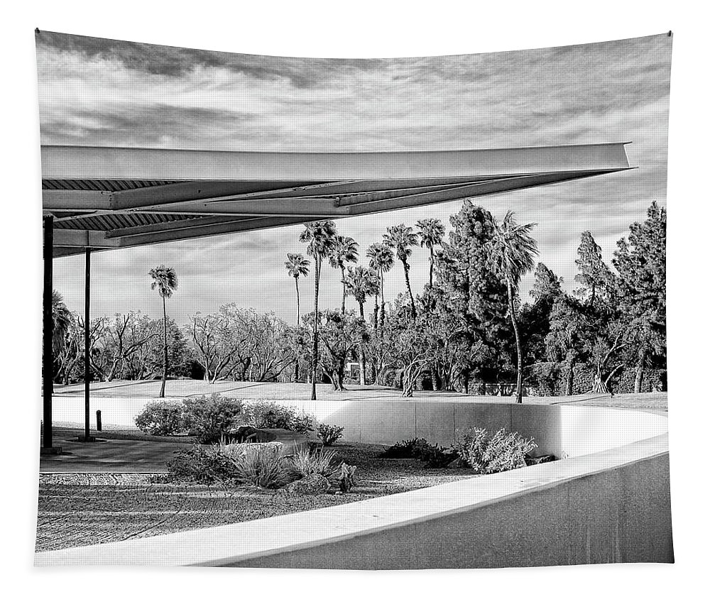 Palm Springs Tapestry featuring the photograph Overhang Bw Palm Springs by William Dey