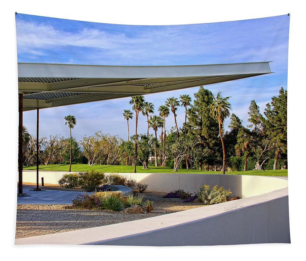 Palm Springs Tapestry featuring the photograph OVERHANG Palm Springs Tram Station by William Dey