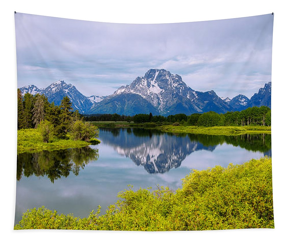 Oxbow Summer Tapestry featuring the photograph Oxbow Summer by Chad Dutson