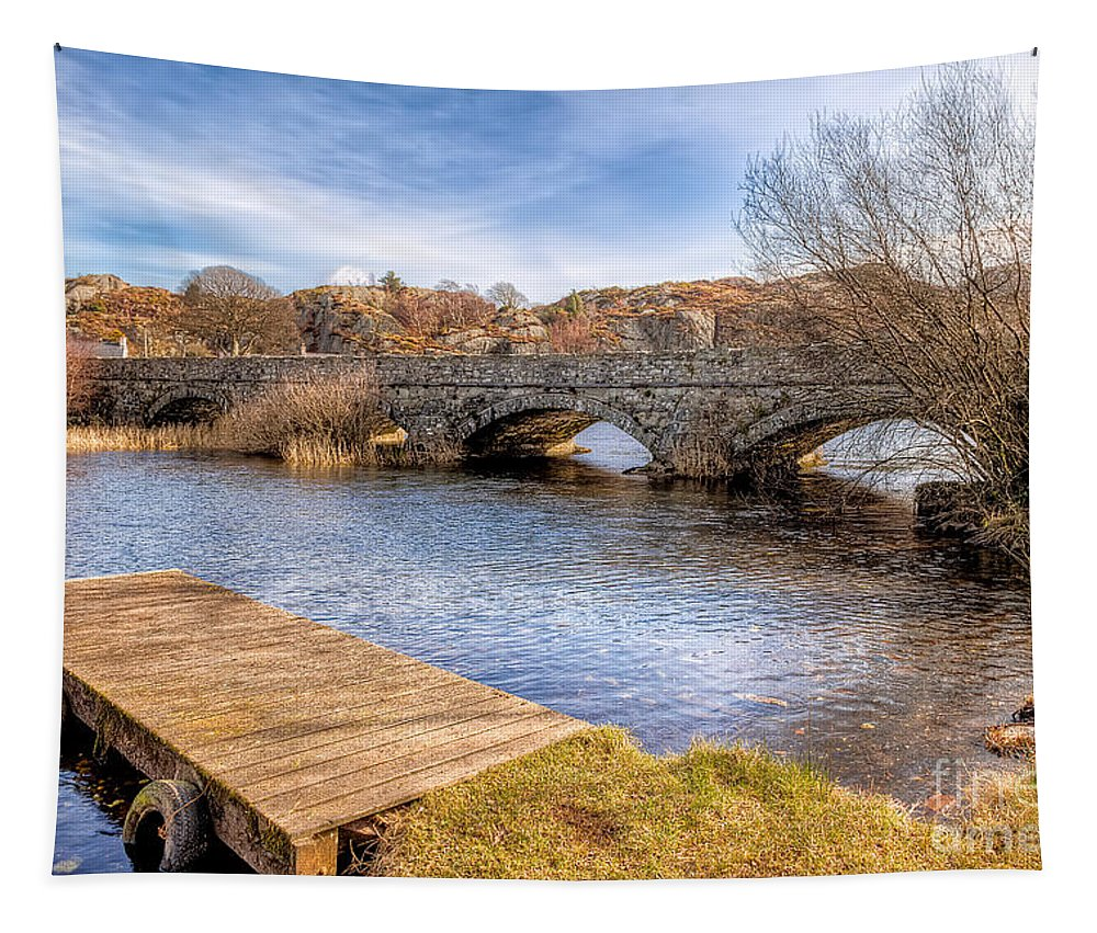 Arch Tapestry featuring the photograph Padarn Bridge by Adrian Evans
