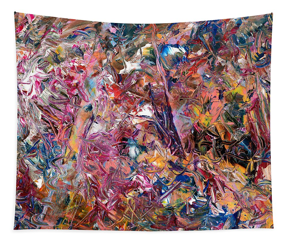 Abstract Tapestry featuring the painting Paint number 49 by James W Johnson