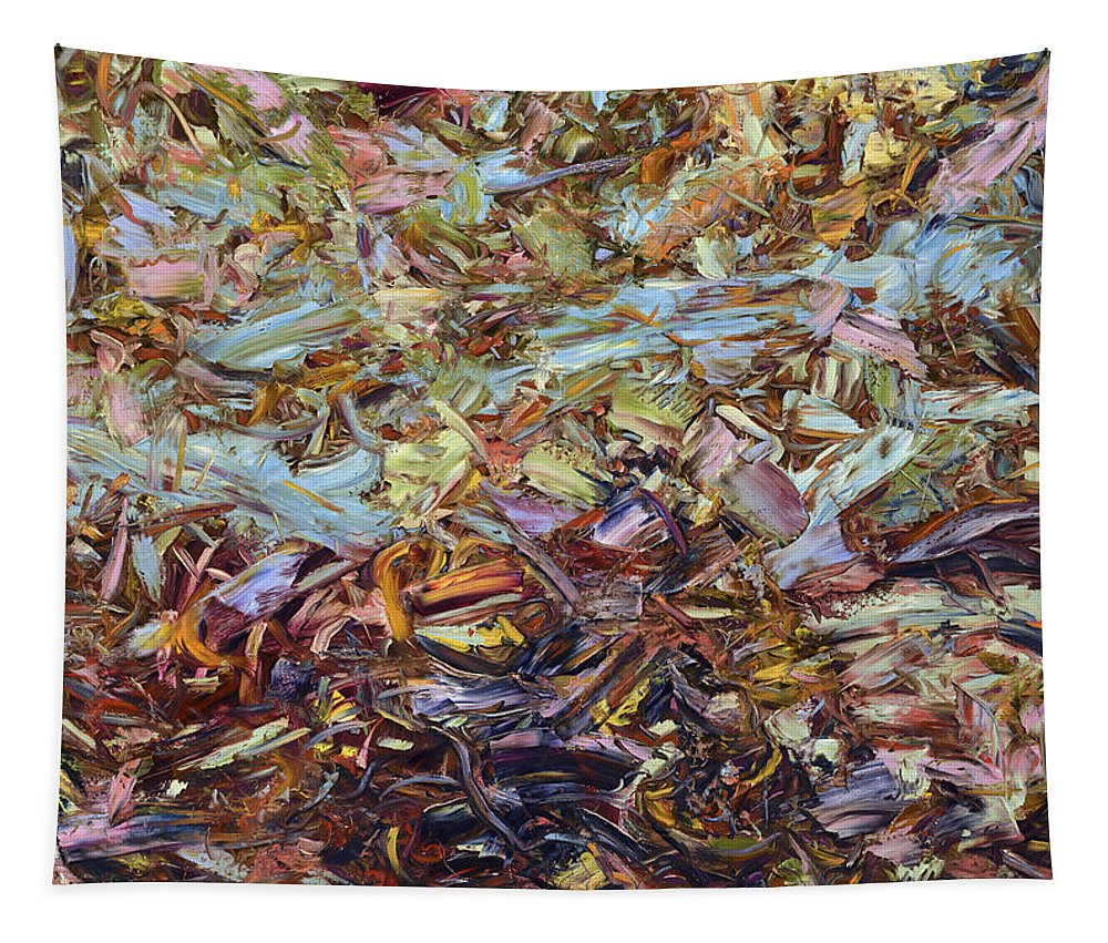 Abstract Tapestry featuring the painting Paint number 51 by James W Johnson