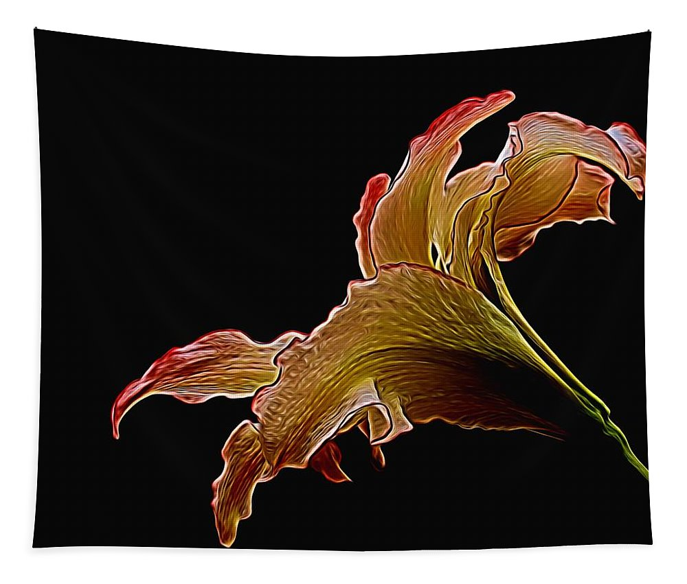 Lily Tapestry featuring the photograph Painted Lily by Judy Vincent