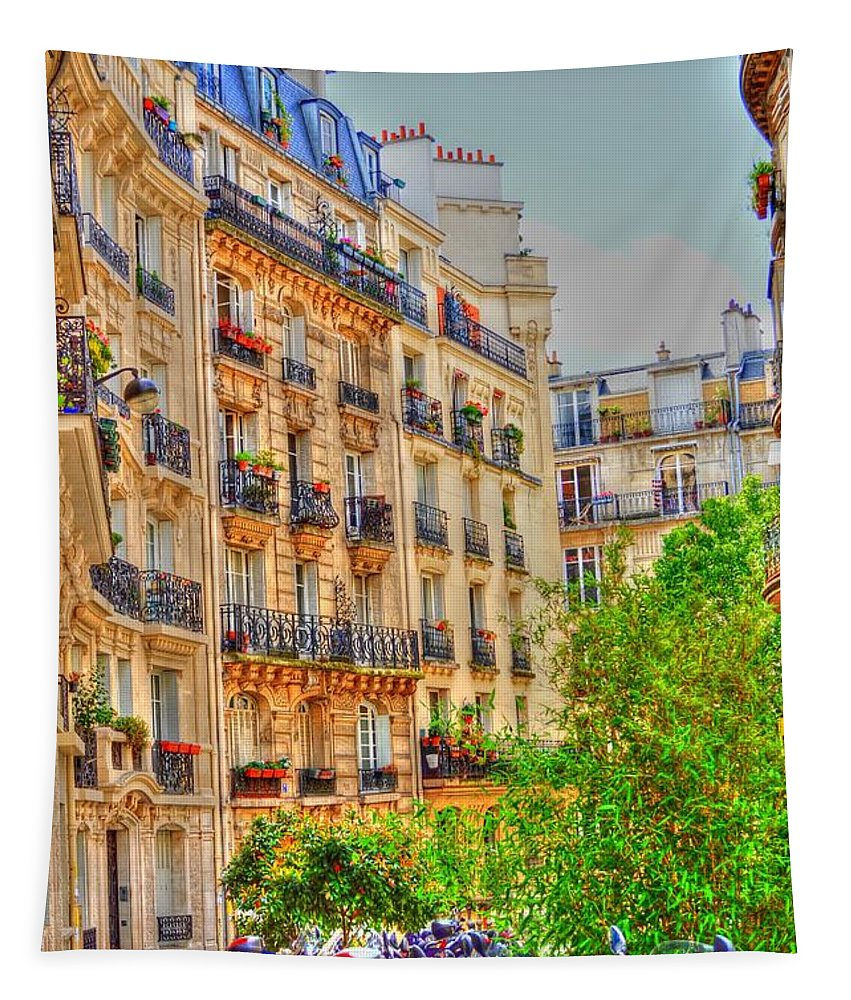 Paris Tapestry featuring the photograph Painted Paris by Linda Covino