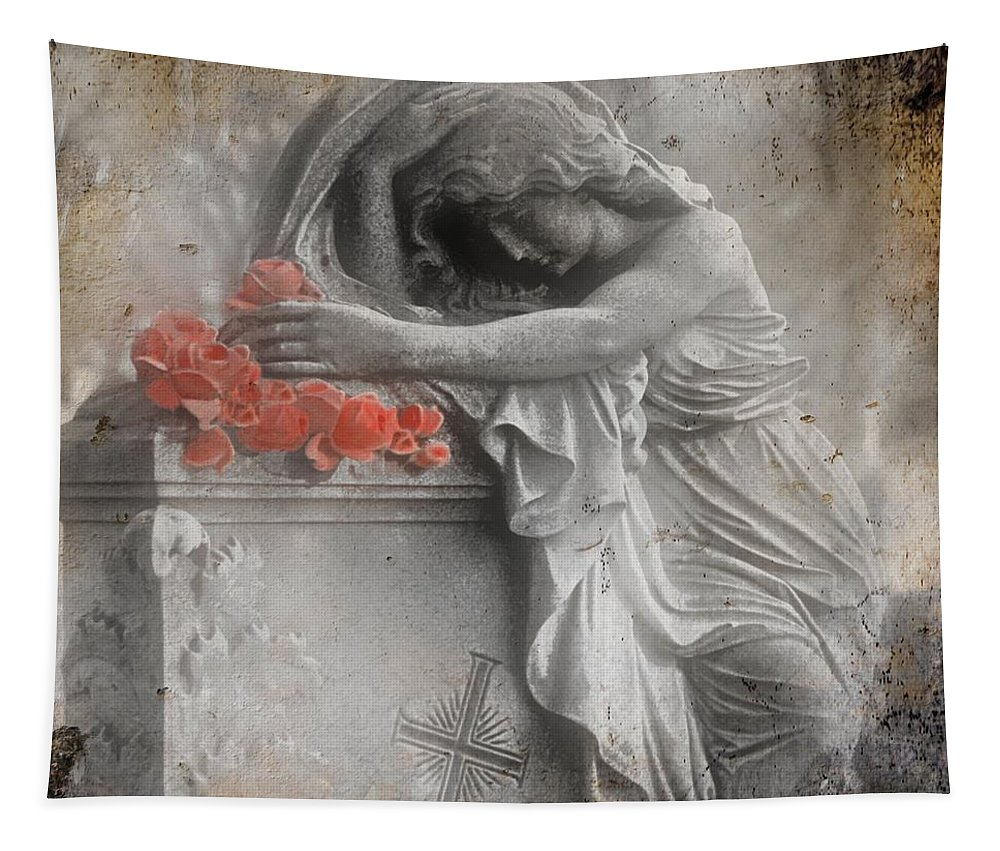 Red Roses Tapestry featuring the photograph Painted Roses by Gothicrow Images