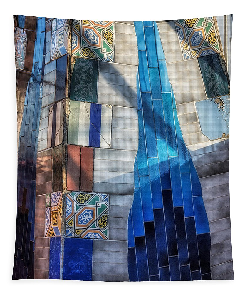 Joan Carroll Tapestry featuring the photograph Palau Guell by Joan Carroll