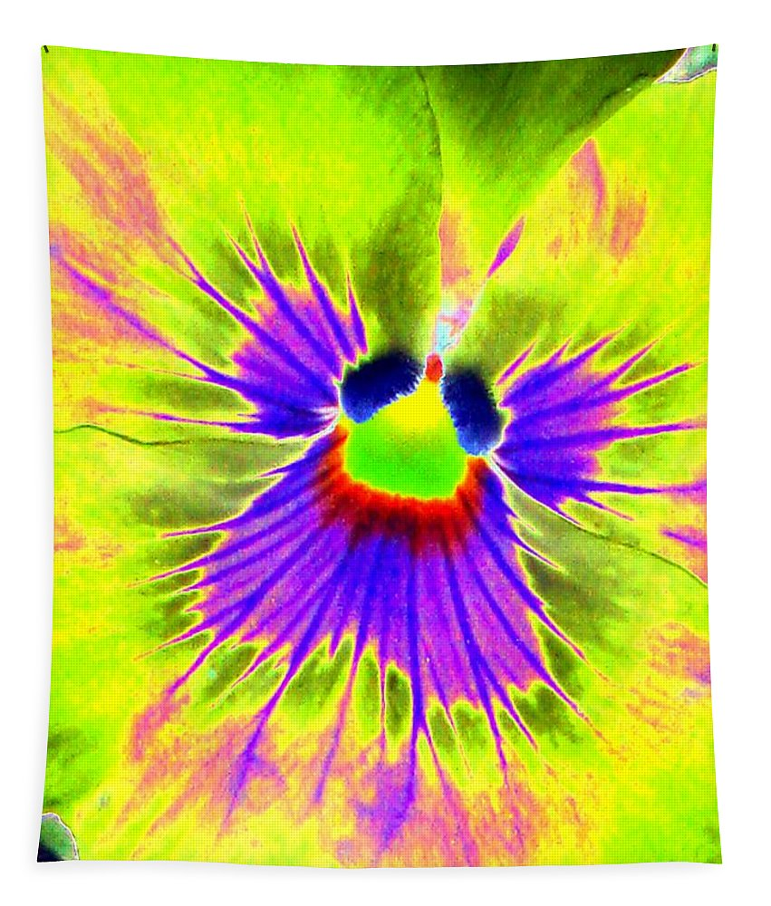 Pansy Tapestry featuring the photograph Pansy Power 59 by Pamela Critchlow