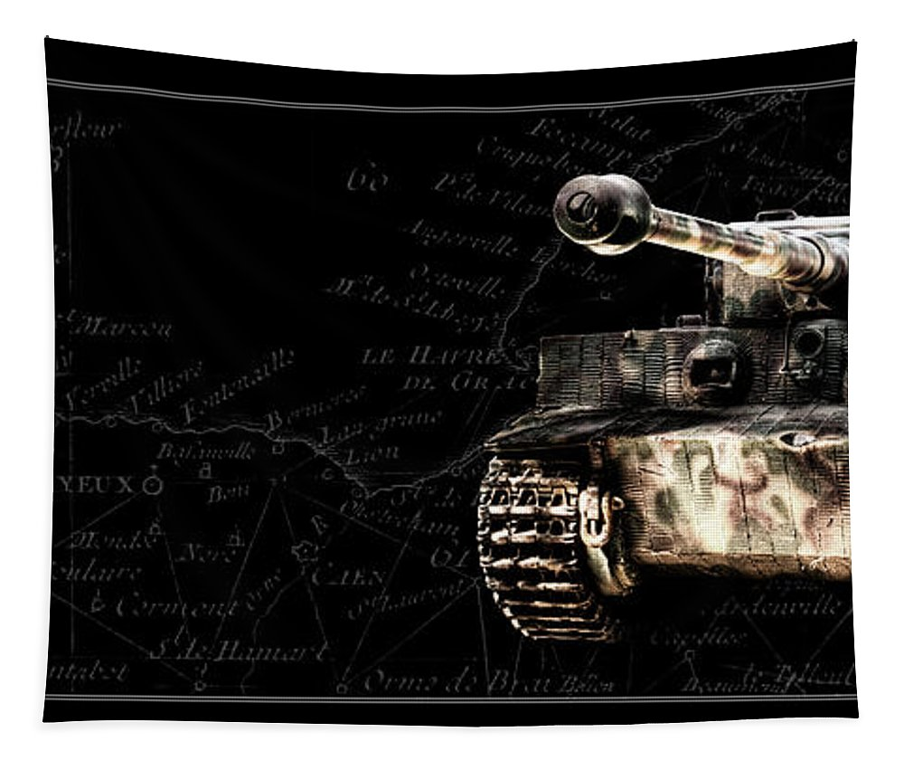 Panzer Vi Tapestry featuring the photograph Panzer Tiger I Front Bk Bg by Weston Westmoreland