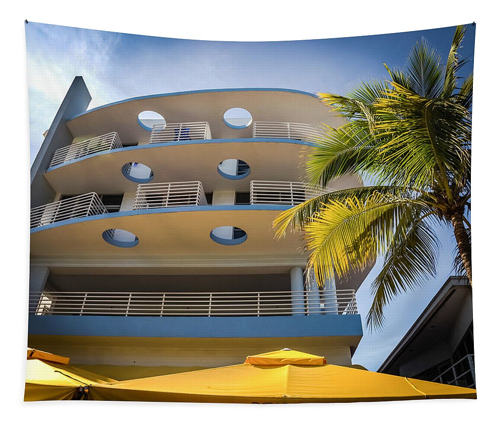 South Beach Tapestry featuring the photograph Congress Hotel Of South Beach by Karen Wiles