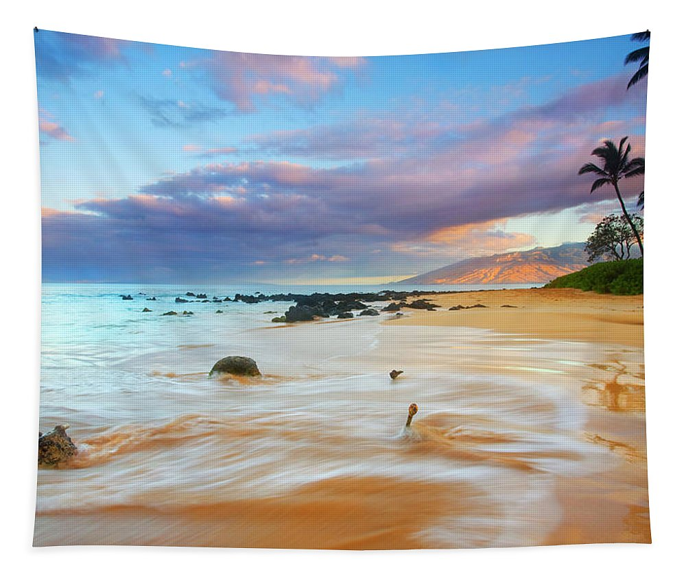 Sunrise Tapestry featuring the photograph Paradise Dawn by Mike Dawson