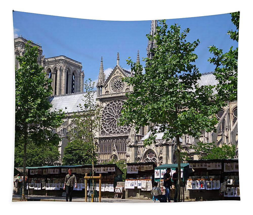 Paris Tapestry featuring the photograph Paris Artist Row by Toby McGuire
