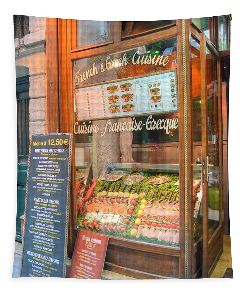 Paris Tapestry featuring the photograph Paris Deli by Linda Covino
