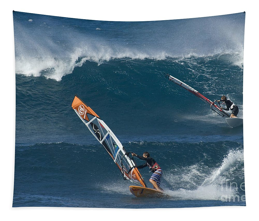 Extreme Sports Tapestry featuring the photograph Partners In The Extreme by Bob Christopher