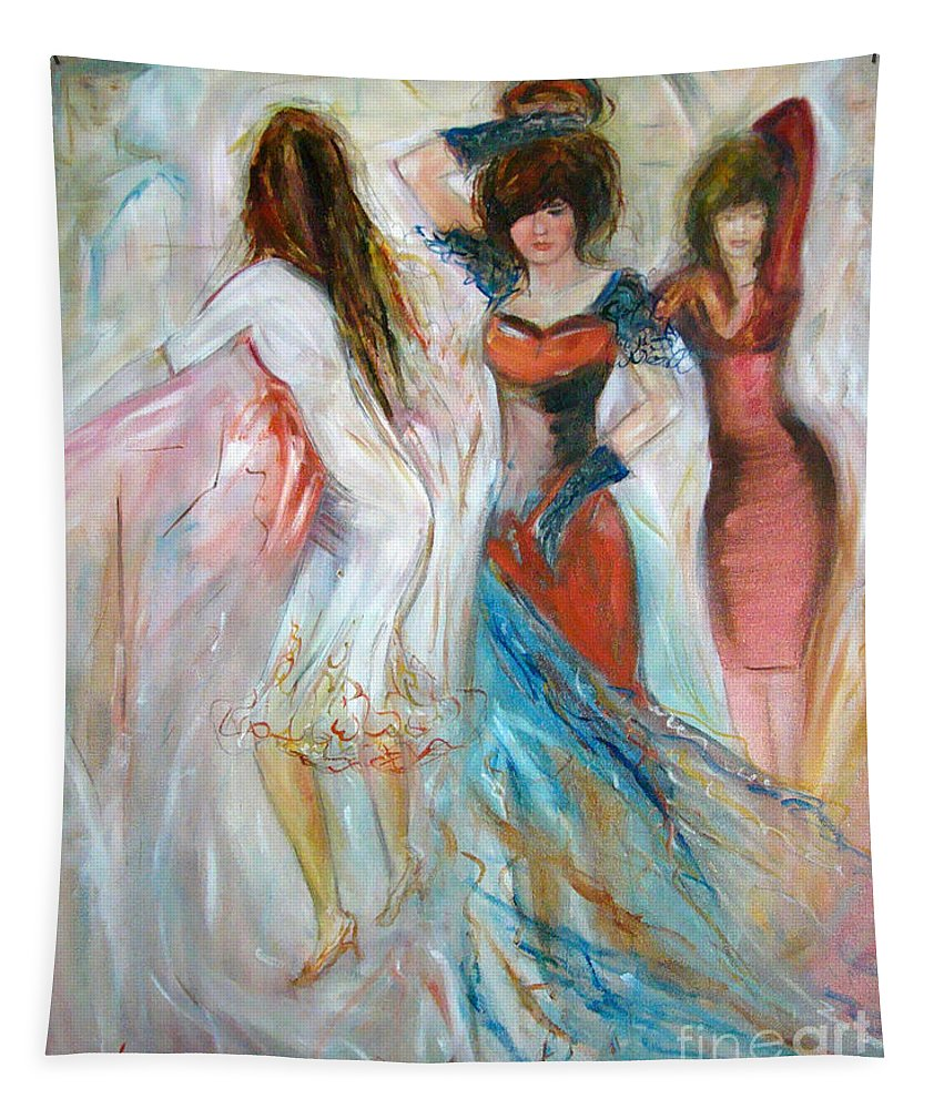 Contemporary Art Tapestry featuring the painting Party Time by Silvana Abel