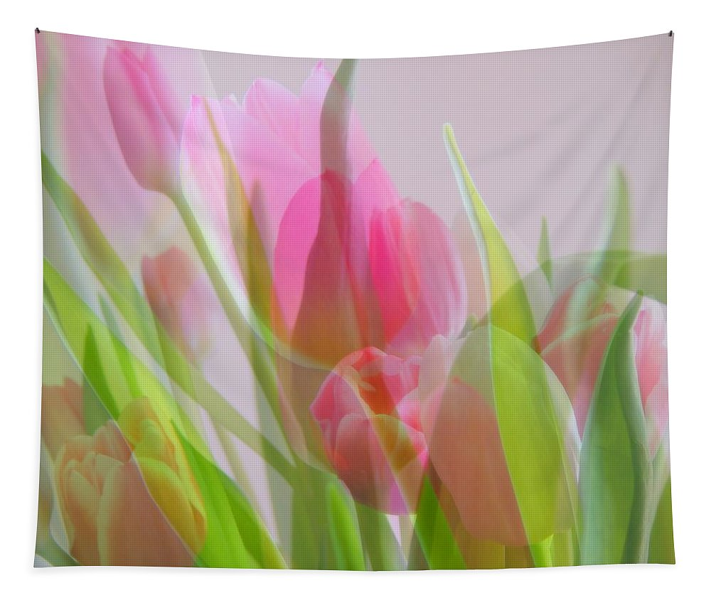 Pastel Petals Tapestry featuring the photograph Pastel Petals by Karen Cook