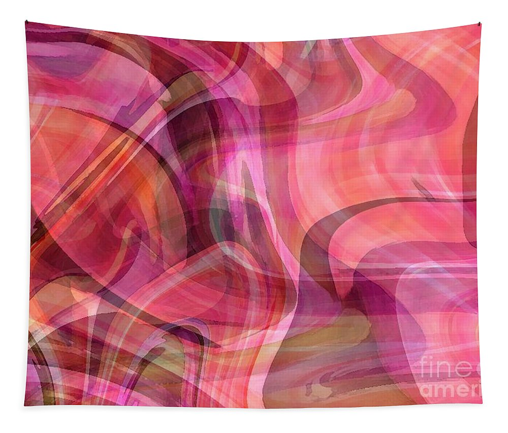 Pastels Tapestry featuring the digital art Pastel Power- Abstract Art by Carol Groenen