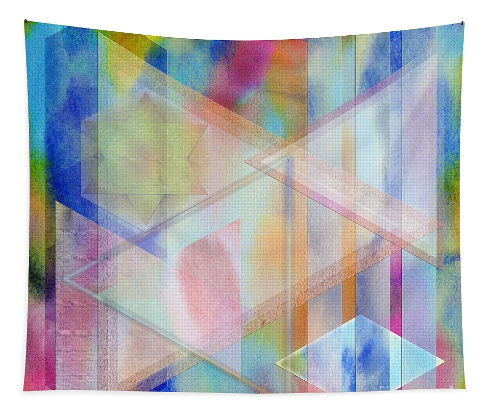 Pastoral Moment Tapestry featuring the digital art Pastoral Moment - Square Version by John Robert Beck