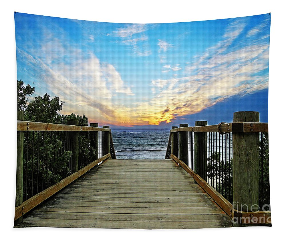 Kangaroo Island Tapestry featuring the photograph Path 2 by Ben Yassa
